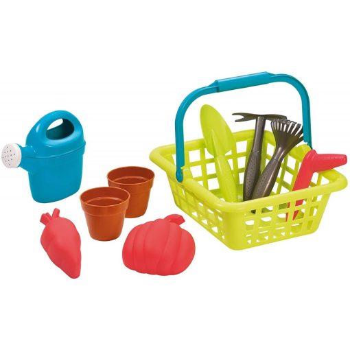 Écoiffier 4567 Játék kertészkedő kosár kiegészítőkkel