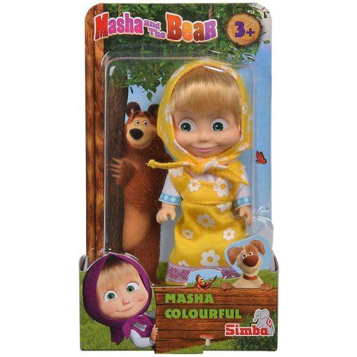 Simba Toys Mása és a medve - Mása baba sárga ruhában (109301678)