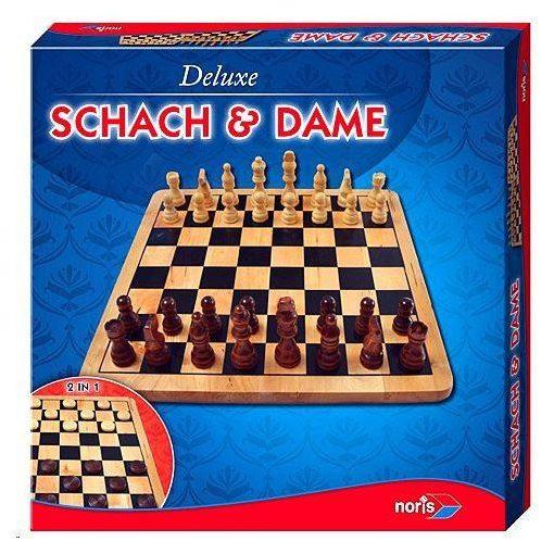 Noris Deluxe - Fa sakk és dámajáték (606104577)