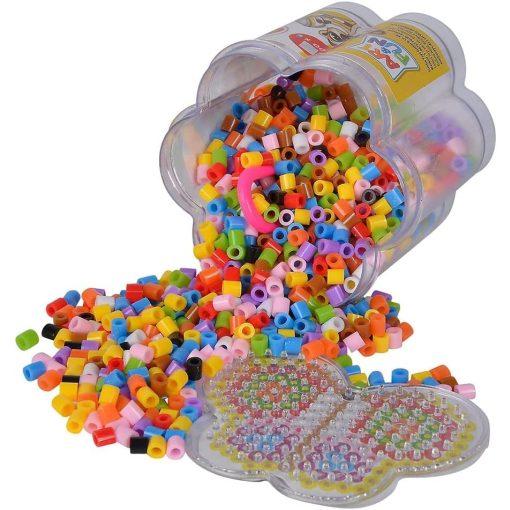 Simba Toys Art & Fun - 1300 darabos vasalható gyöngy készlet többféle sablonnal (106374144)