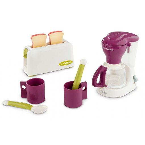 Smoby 310507 Tefal játék reggeliző szett kenyérpirítóval és kávéfőzővel